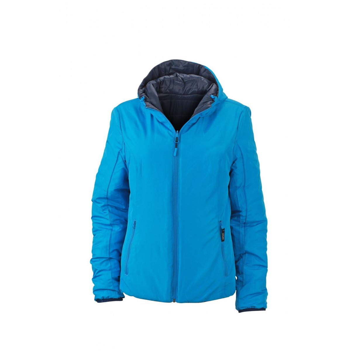 Куртка женская JN1091 Ladies Lightweight Jacket - Темно-синий/Аква