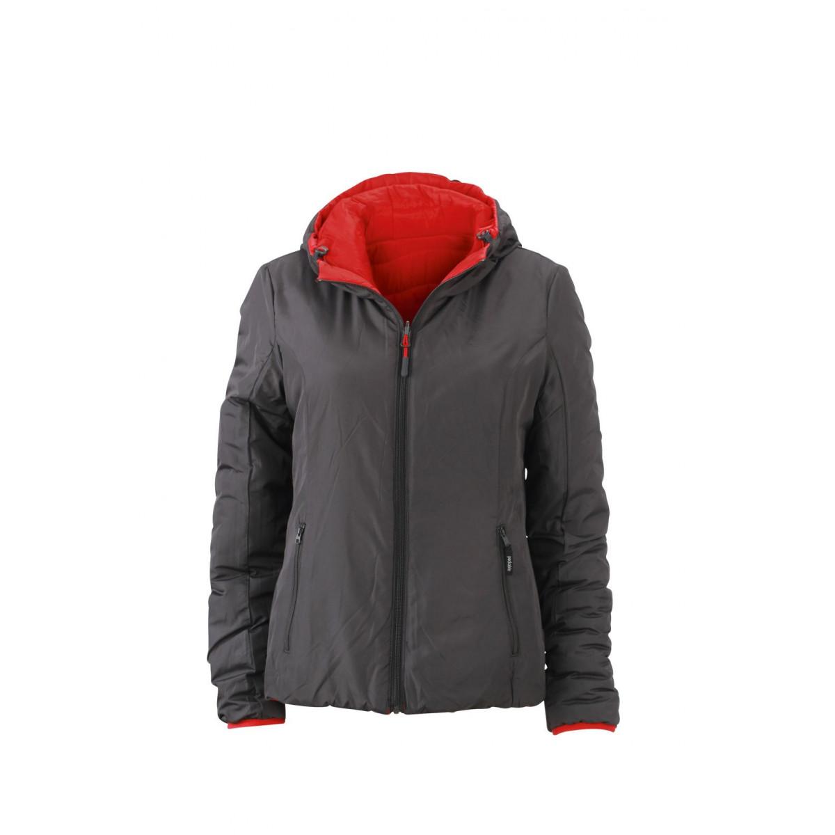 Куртка женская JN1091 Ladies Lightweight Jacket - Красный/Темно-серый