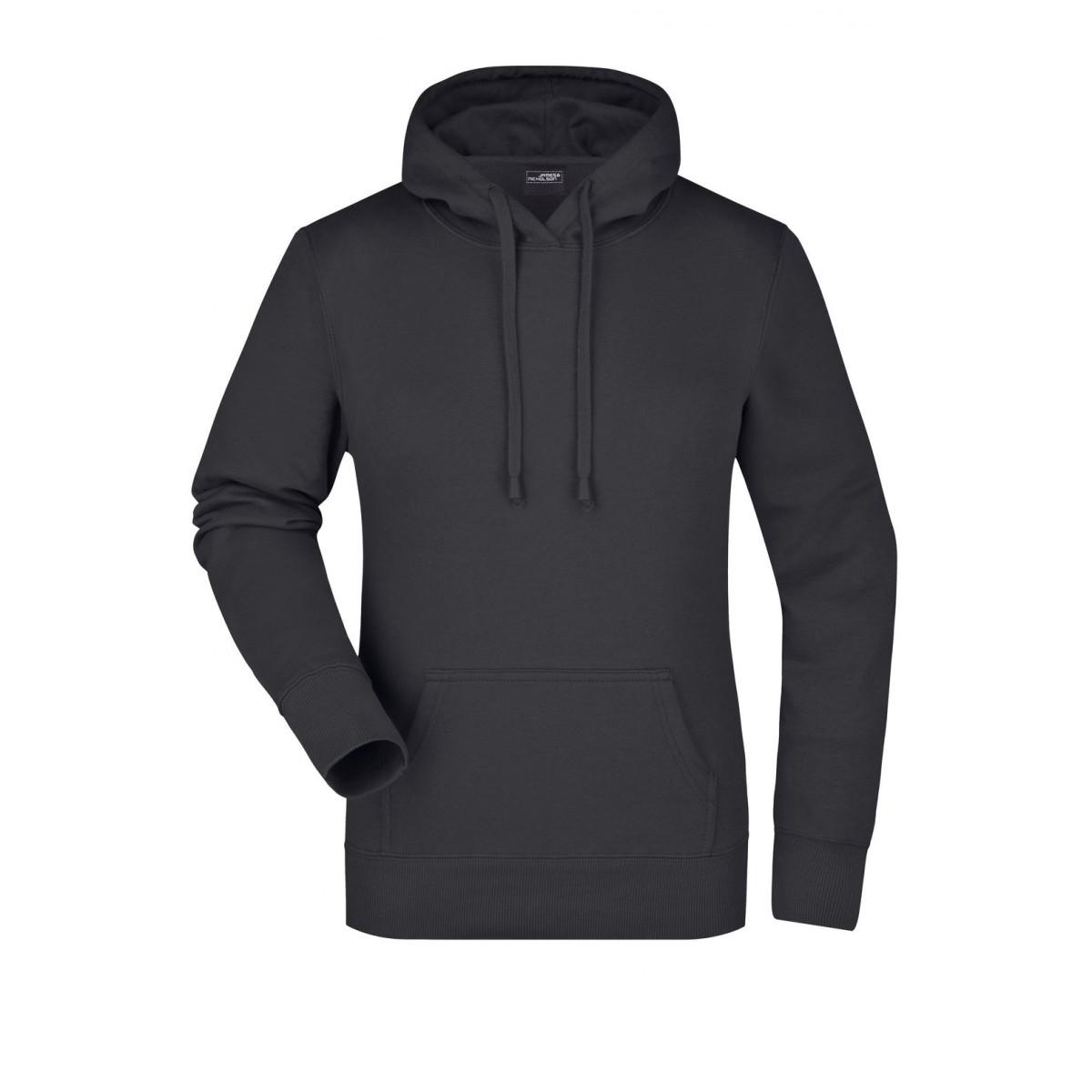 Толстовка женская JN051 Ladies Hooded Sweat - Черный