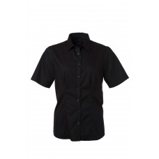 Рубашка женская JN683 Ladies' Shirt Shortsleeve Micro-Twill - Черный