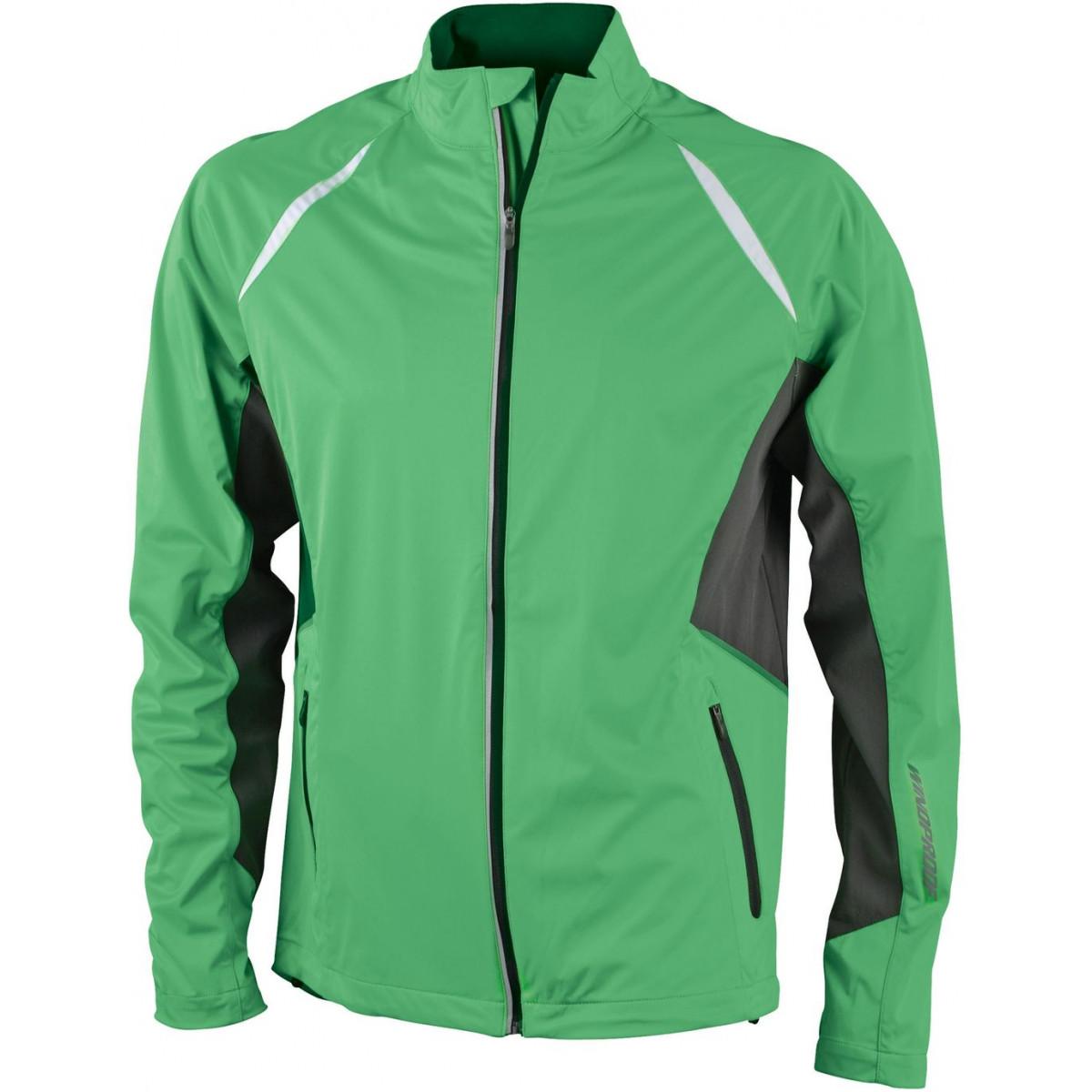 Куртка мужская JN440 Mens Sports Jacket Windproof - Насыщенный зеленый/Темно-серый