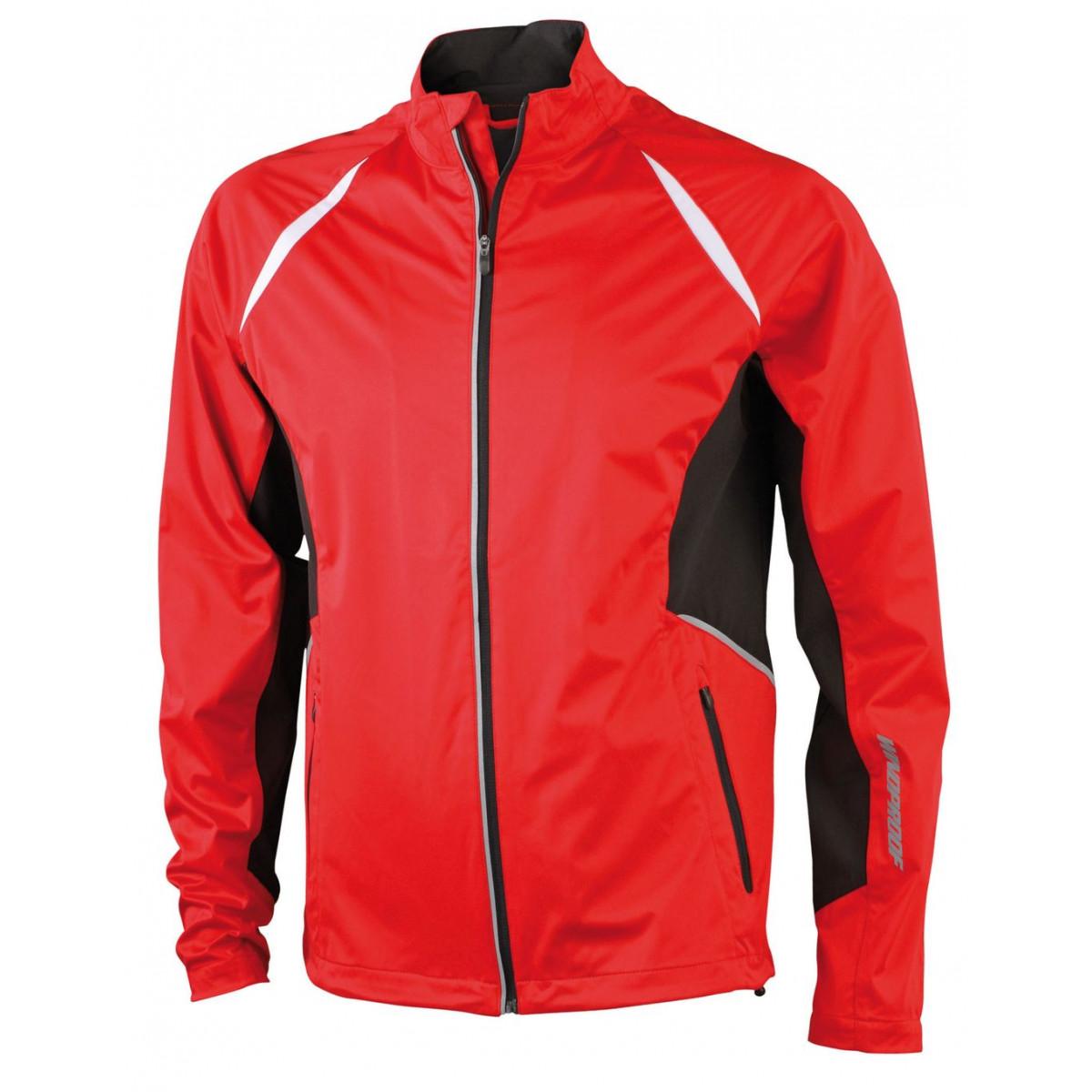 Куртка мужская JN440 Mens Sports Jacket Windproof - Красный/Черный