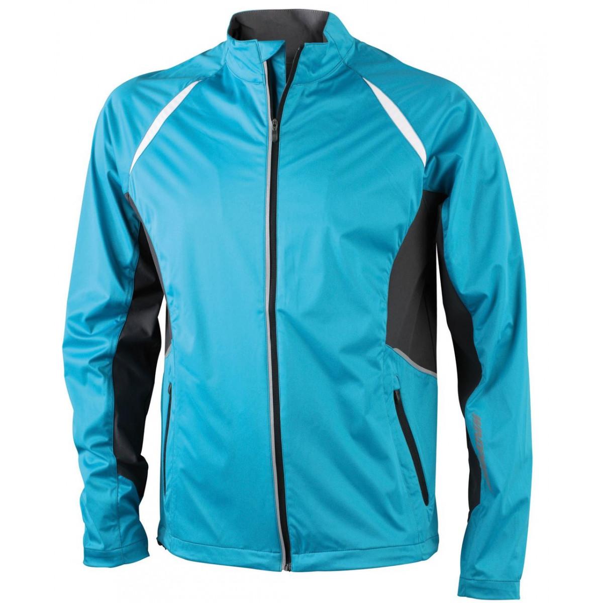 Куртка мужская JN440 Mens Sports Jacket Windproof - Бирюзовый/Темно-серый