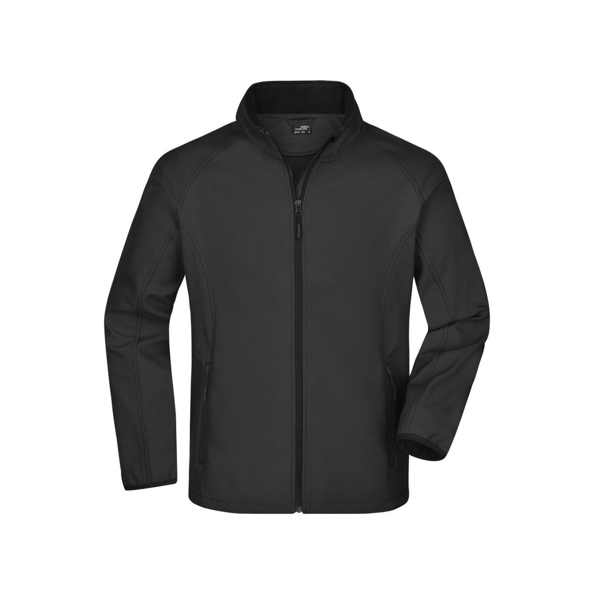 Куртка мужская JN1130 Mens Promo Softshell Jacket - Черный/Черный