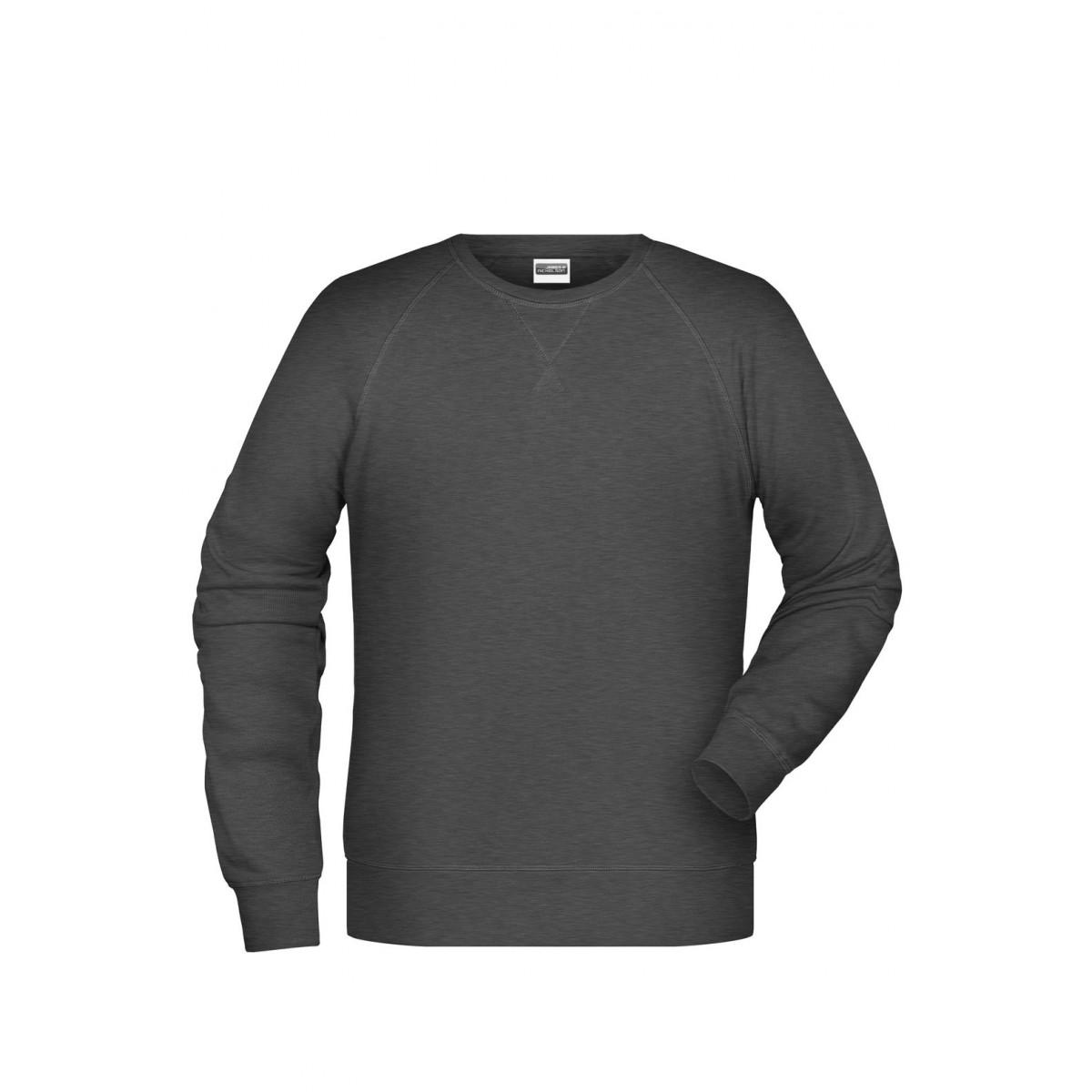 Толстовка мужская 8022 Men´s Sweat - Черный меланж