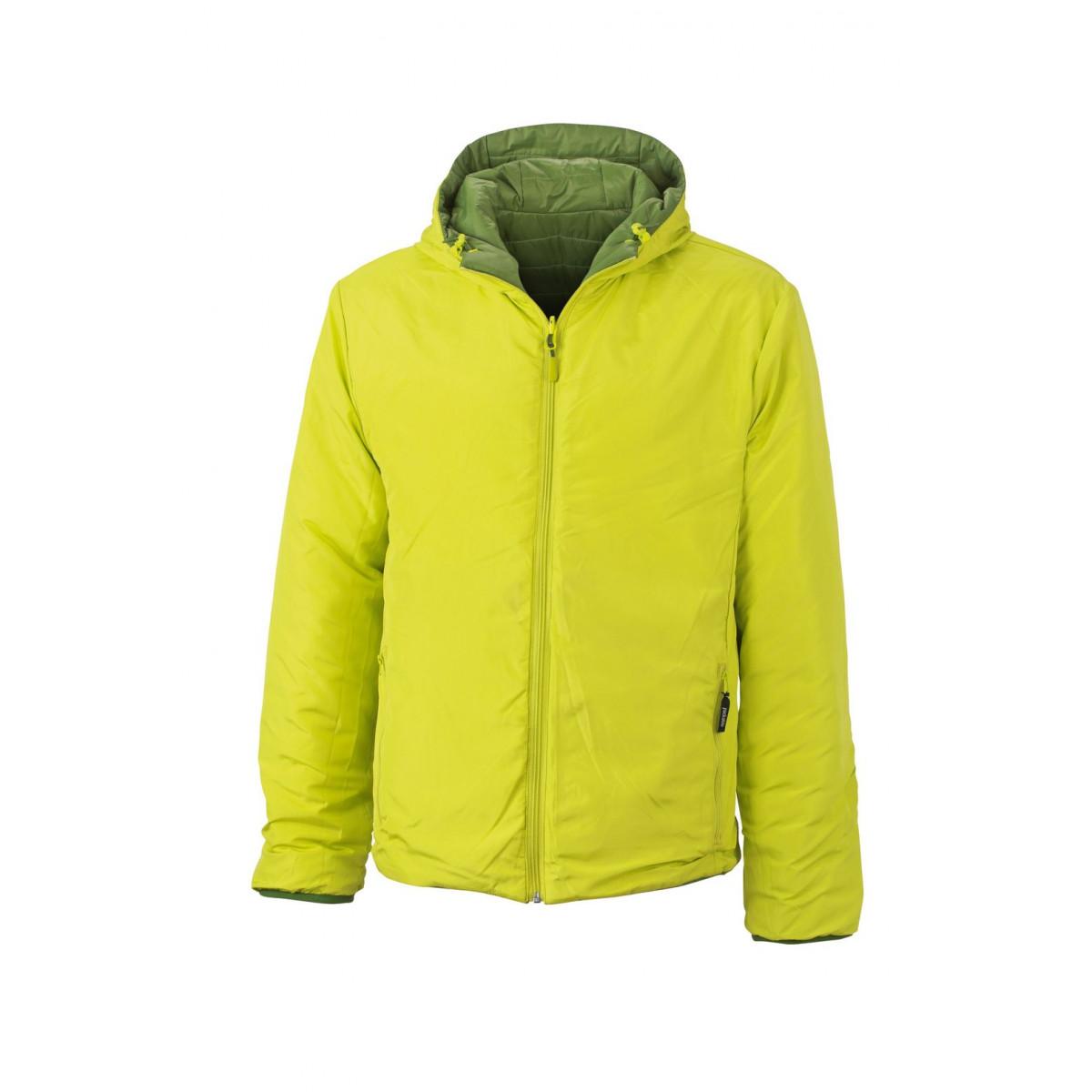 Куртка мужская JN1092 Mens Lightweight Jacket - Насыщенный зеленый/Ярко-желтый