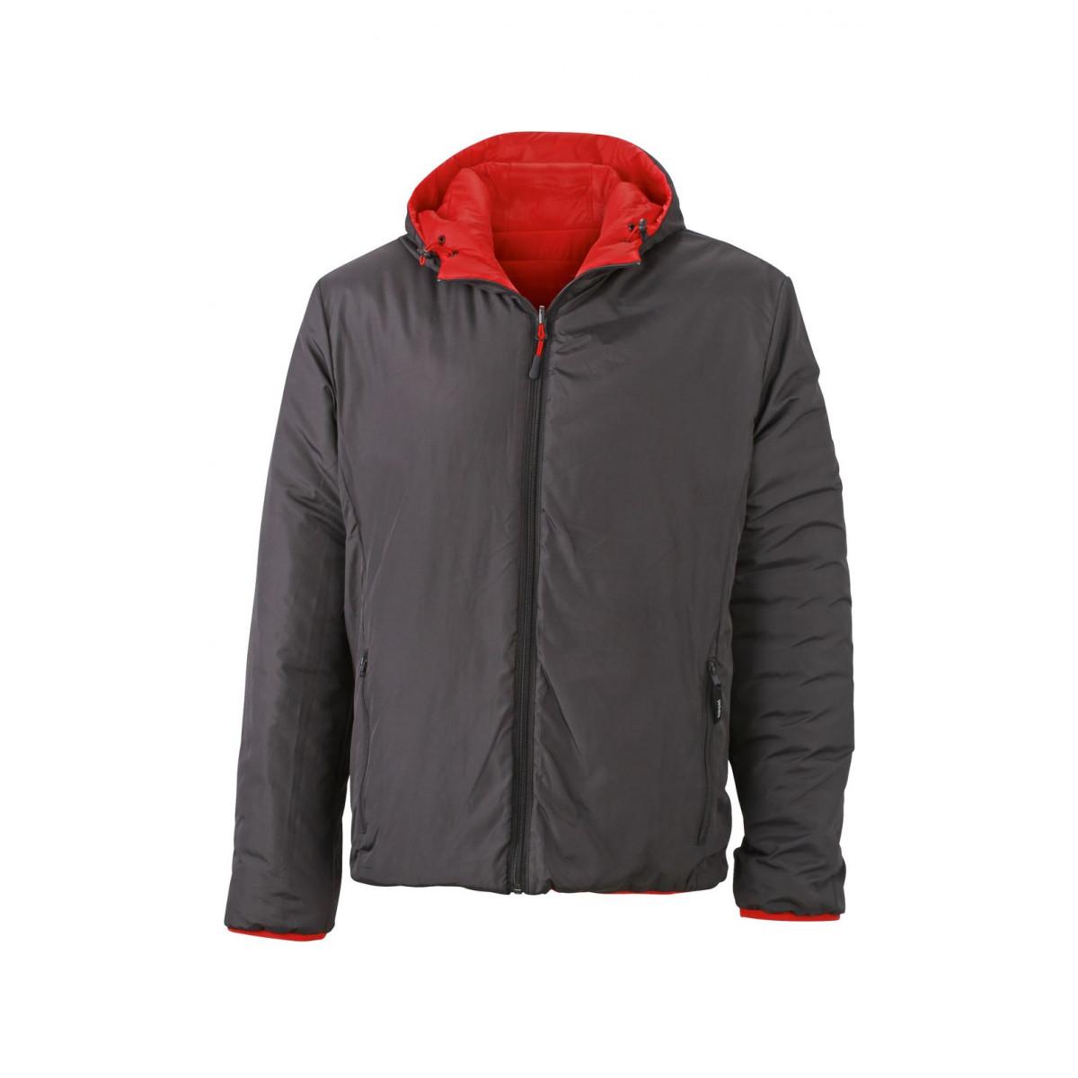 Куртка мужская JN1092 Mens Lightweight Jacket - Красный/Темно-серый