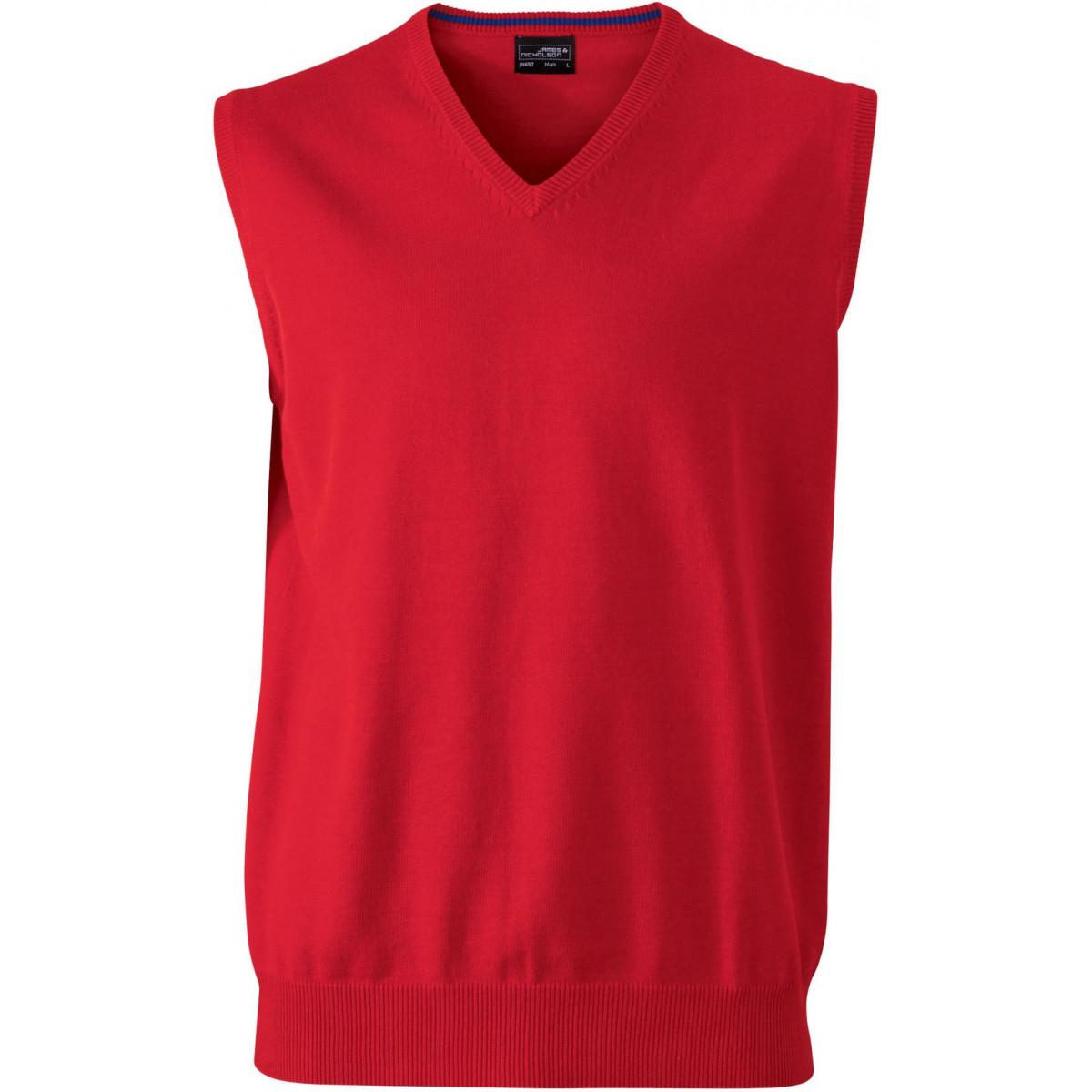 Жилет вязаный мужской JN657 Mens V-Neck Pullunder - Красный
