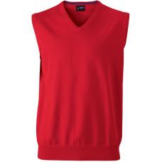Жилет вязаный мужской JN657 Men's V-Neck Pullunder - Красный