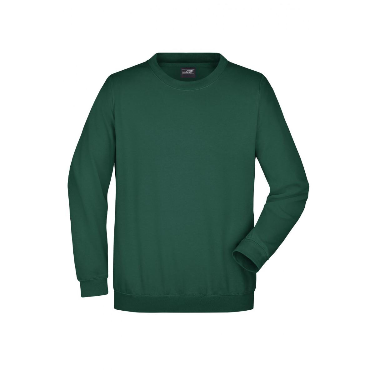 Толстовка мужская JN040 Round Sweat Heavy - Темно-зеленый