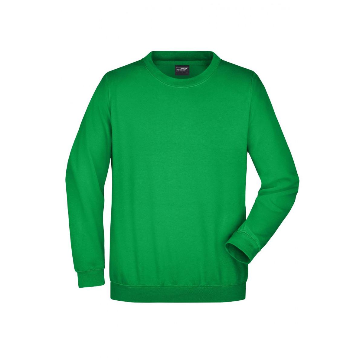 Толстовка мужская JN040 Round Sweat Heavy - Насыщенный зеленый