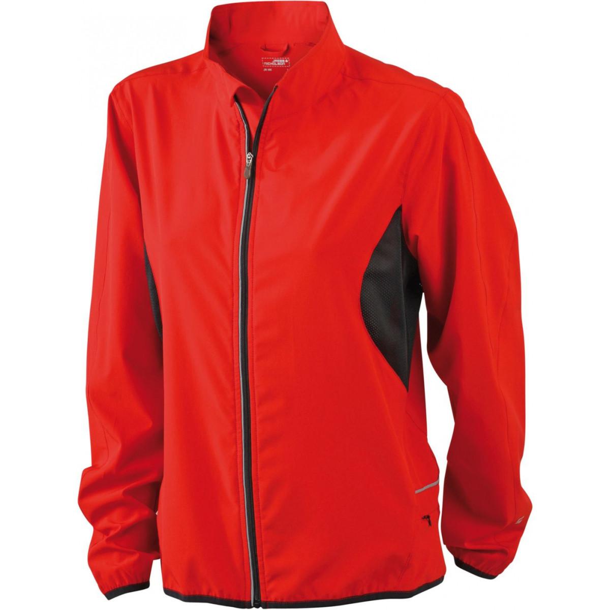 Куртка женская JN443 Ladies Running Jacket - Красный/Черный