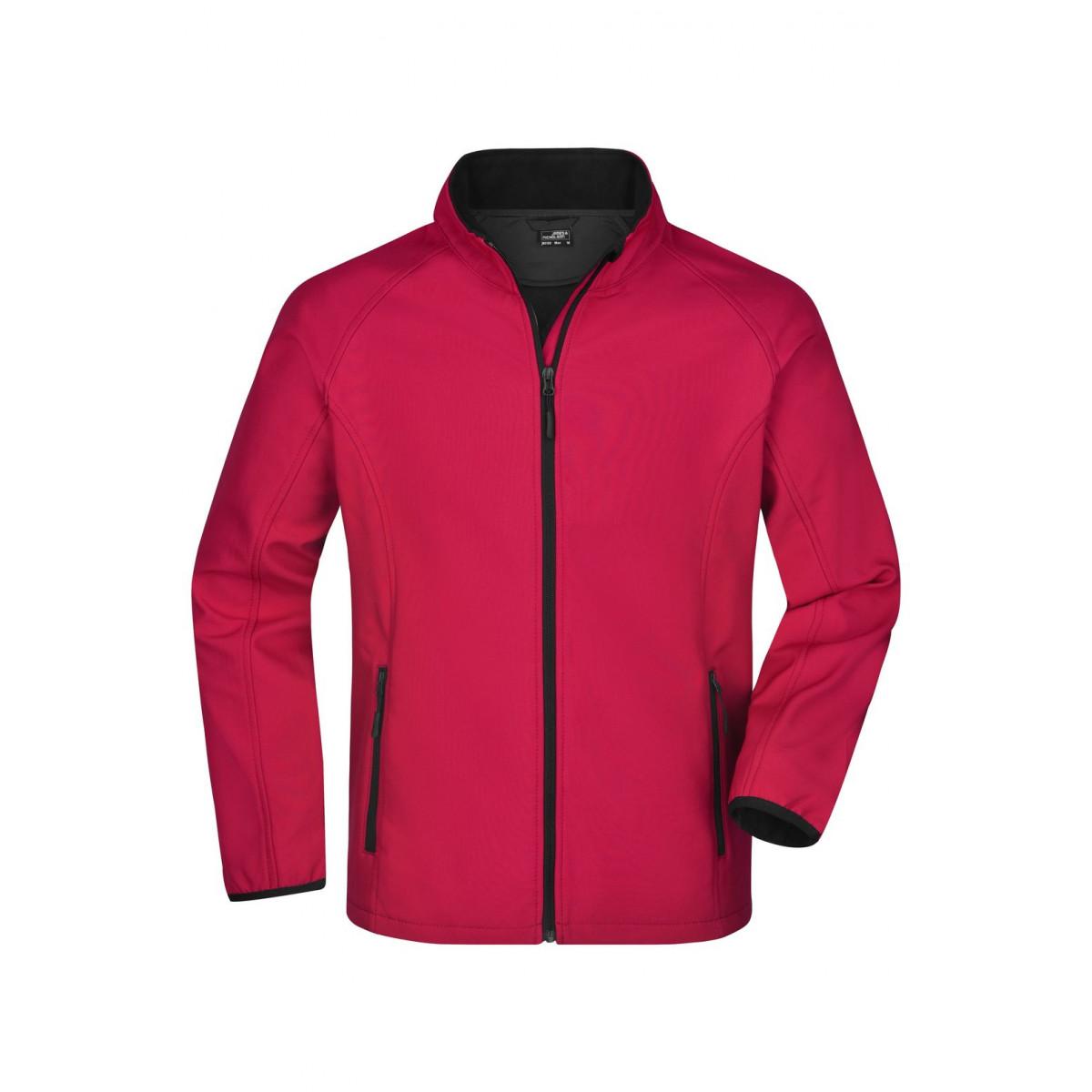Куртка мужская JN1130 Mens Promo Softshell Jacket - Красный/Черный