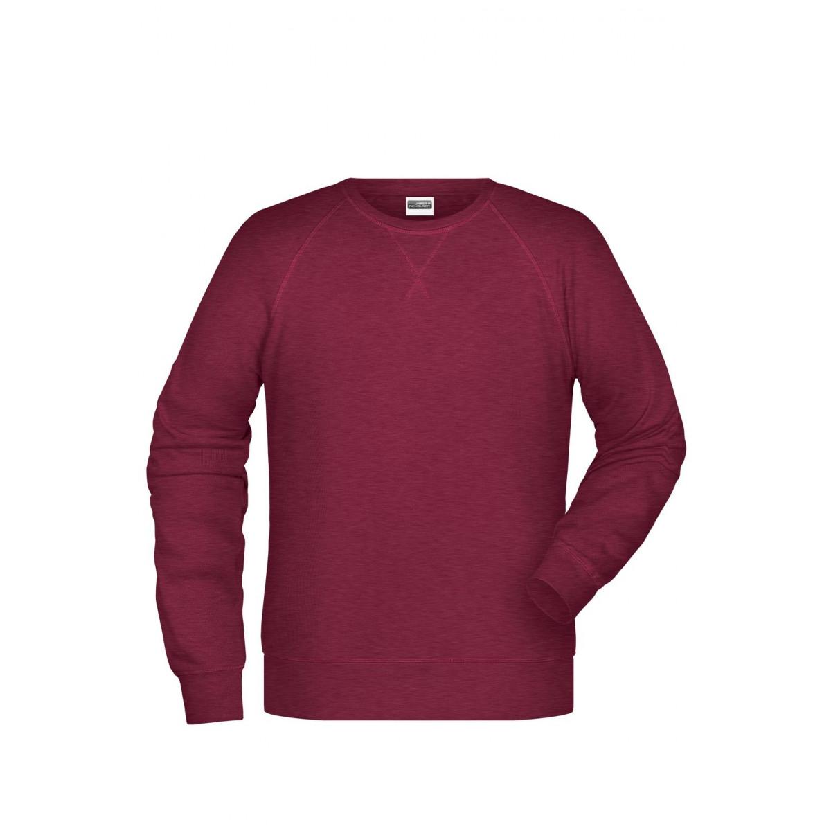 Толстовка мужская 8022 Men´s Sweat - Бордовый меланж