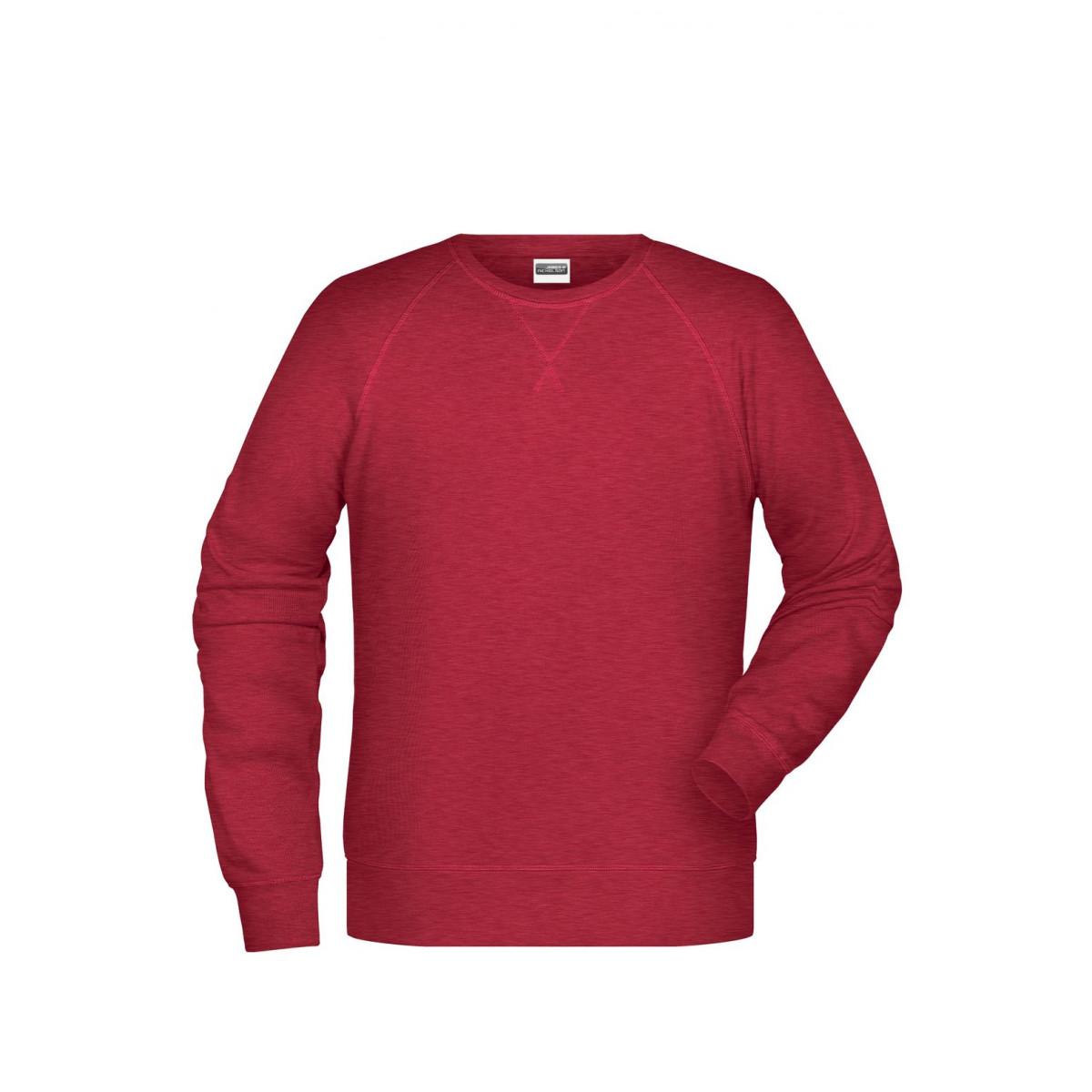 Толстовка мужская 8022 Men´s Sweat - Красный меланж
