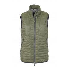 Жилет женский JN1109 Ladies' Lightweight Vest - Оливковый/Серебряный