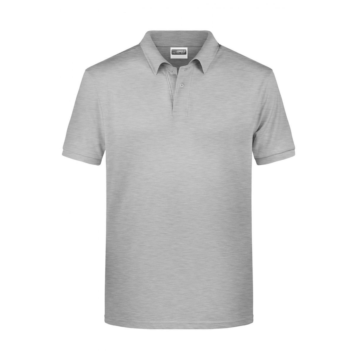 Рубашка поло мужская 8010 Mens Basic Polo - Серый меланж