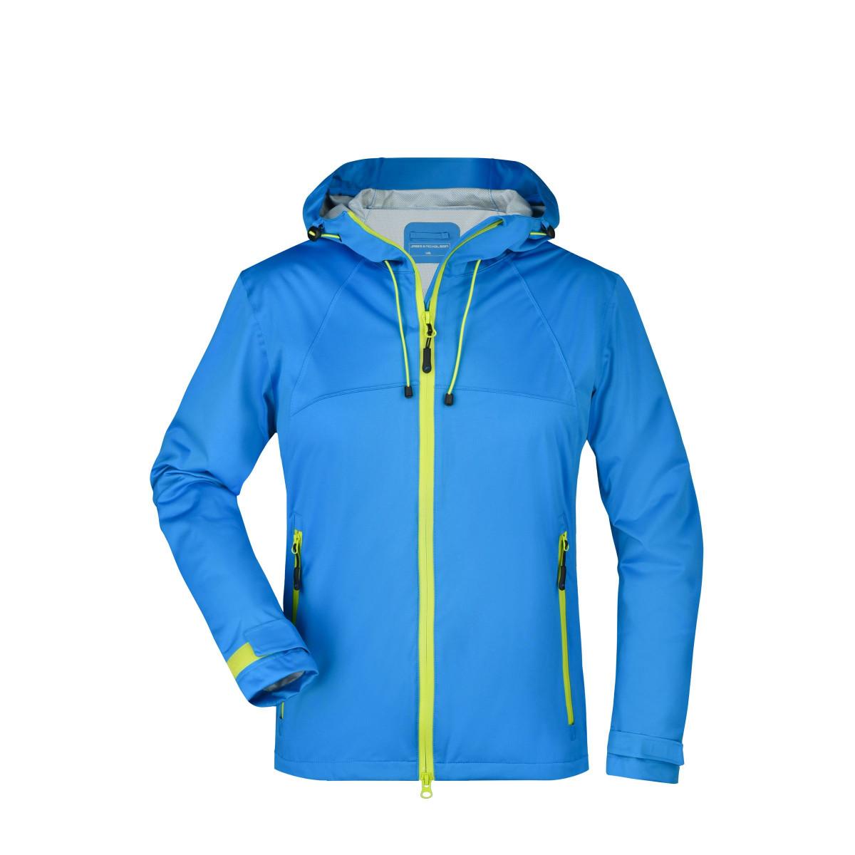 Куртка женская JN1097 Ladies Outdoor Jacket - Аква/Ярко-желтый