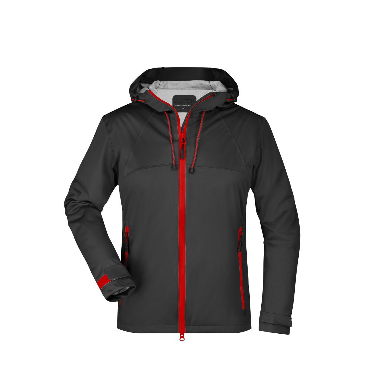 Куртка женская JN1097 Ladies Outdoor Jacket - Черный/Красный