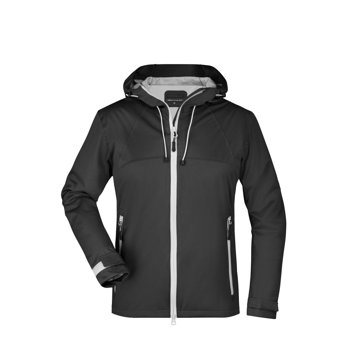 Куртка женская JN1097 Ladies Outdoor Jacket - Черный/Серебряный