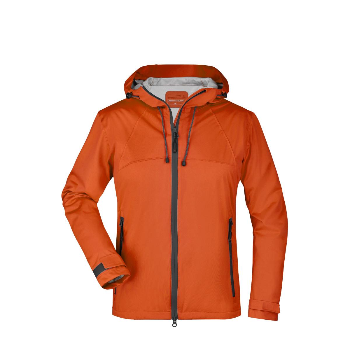 Куртка женская JN1097 Ladies Outdoor Jacket - Темно-оранжевый/Стальной