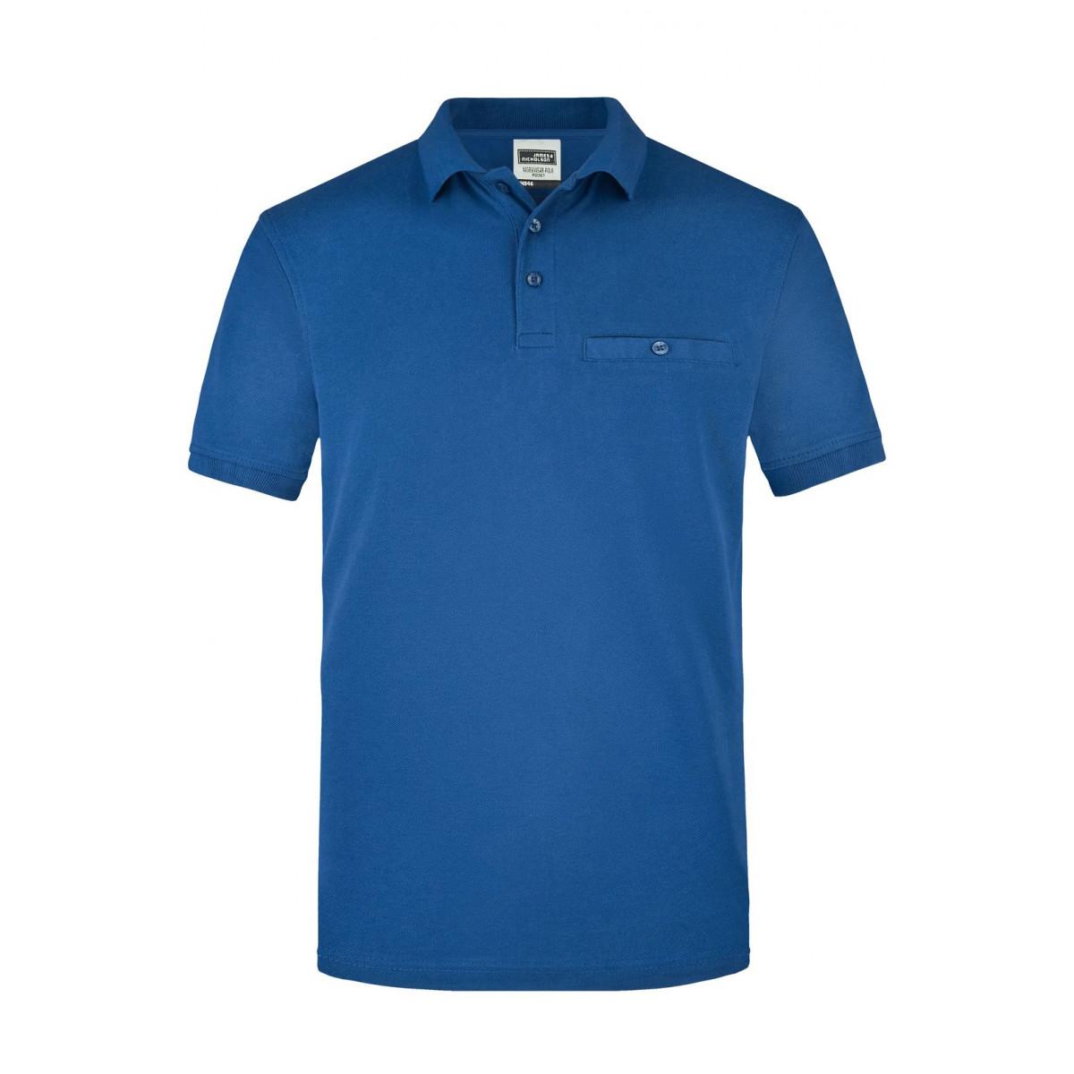Рубашка поло мужская JN846 Men´s Workwear Polo Pocket - Ярко-синий