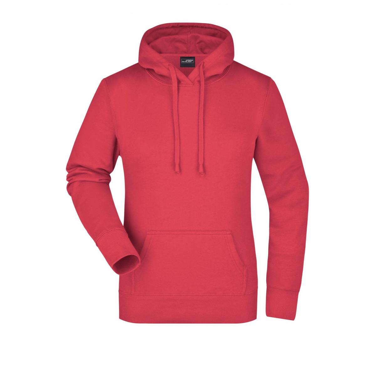 Толстовка женская JN051 Ladies Hooded Sweat - Розовый