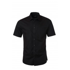 Рубашка мужская JN684 Men's Shirt Shortsleeve Micro-Twill - Черный