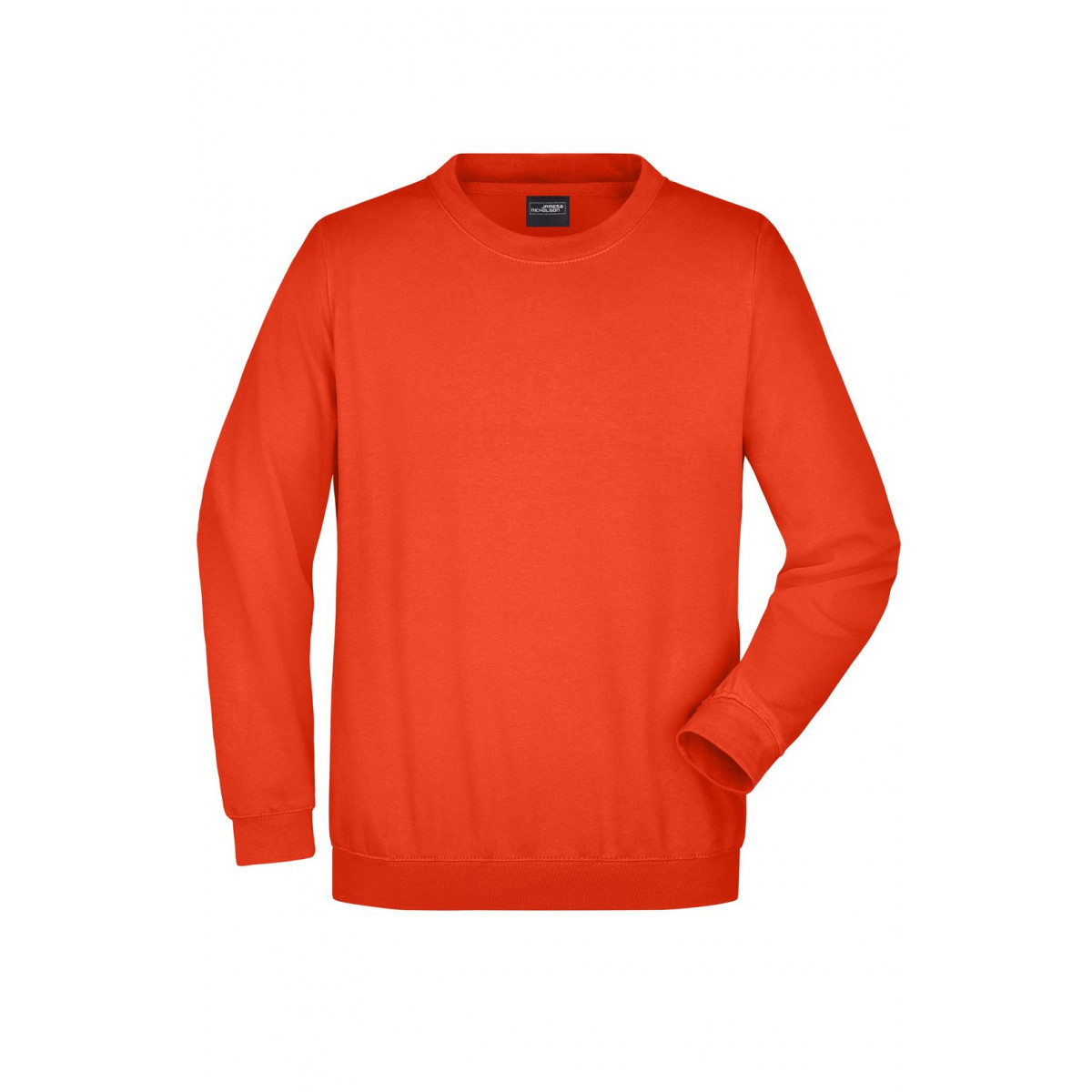 Толстовка мужская JN040 Round Sweat Heavy - Ярко-оранжевый