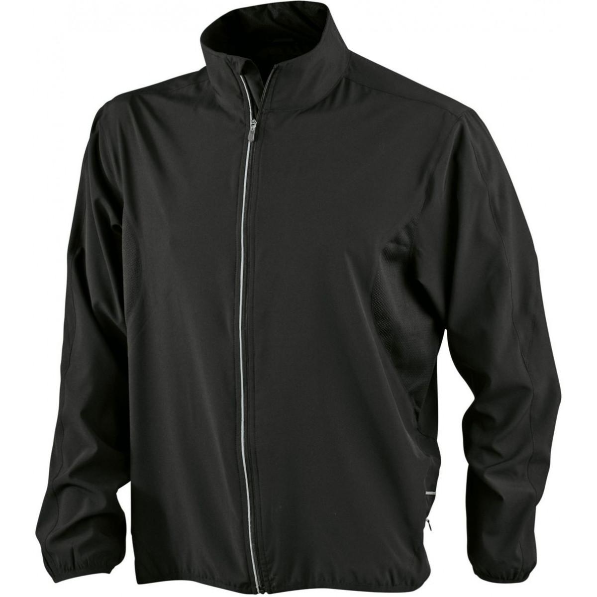 Куртка мужская JN444 Mens Running Jacket - Черный/Черный