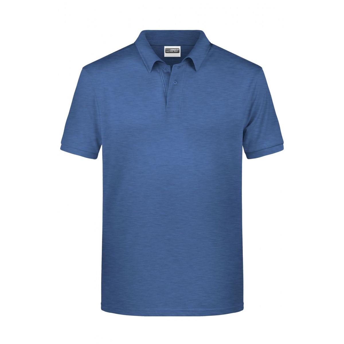 Рубашка поло мужская 8010 Mens Basic Polo - Светло-синий меланж