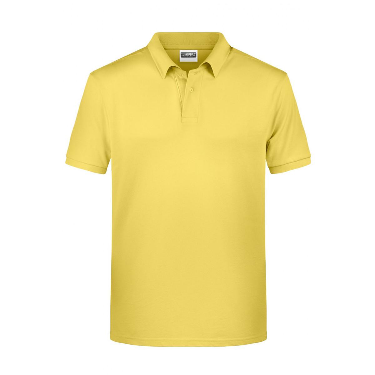 Рубашка поло мужская 8010 Mens Basic Polo - Светло-желтый