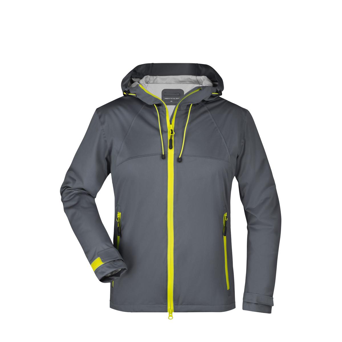 Куртка женская JN1097 Ladies Outdoor Jacket - Стальной/Желтый