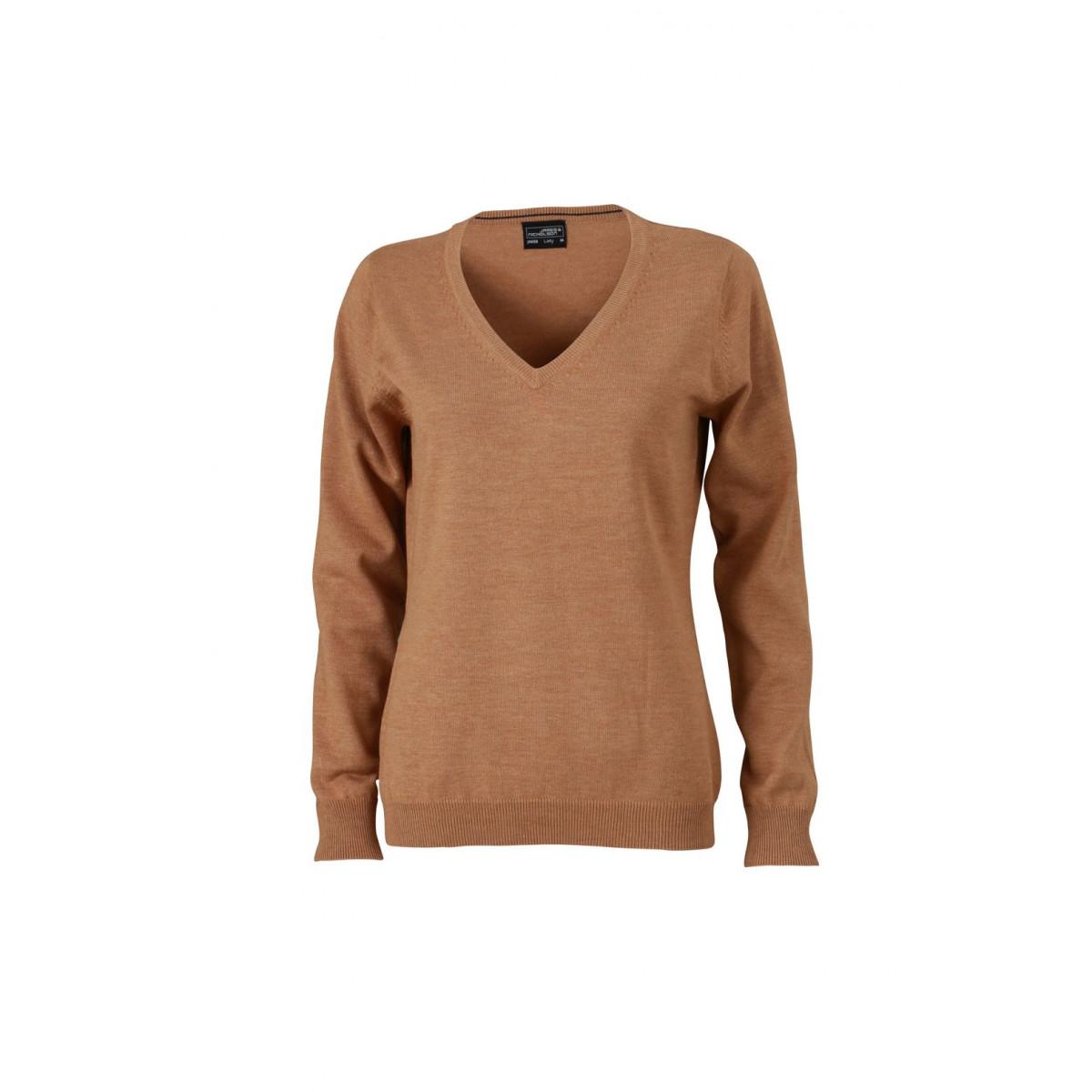 Пуловер женский JN658 Ladies V-Neck Pullover - Желтый