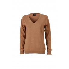 Пуловер женский JN658 Ladies' V-Neck Pullover - Желтый