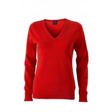 Пуловер женский JN658 Ladies' V-Neck Pullover - Темно-оранжевый