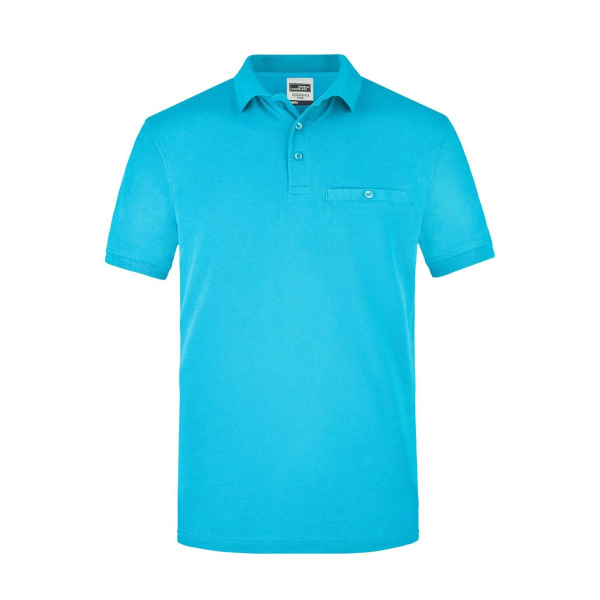 Рубашка поло мужская JN846 Men´s Workwear Polo Pocket - Бирюзовый