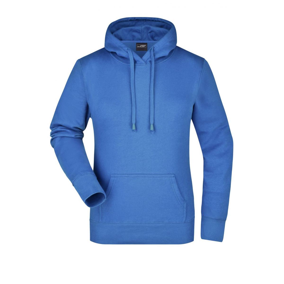 Толстовка женская JN051 Ladies Hooded Sweat - Ярко-синий