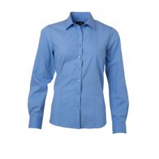 Рубашка женская JN677 Ladies' Shirt Longsleeve Poplin - Аква