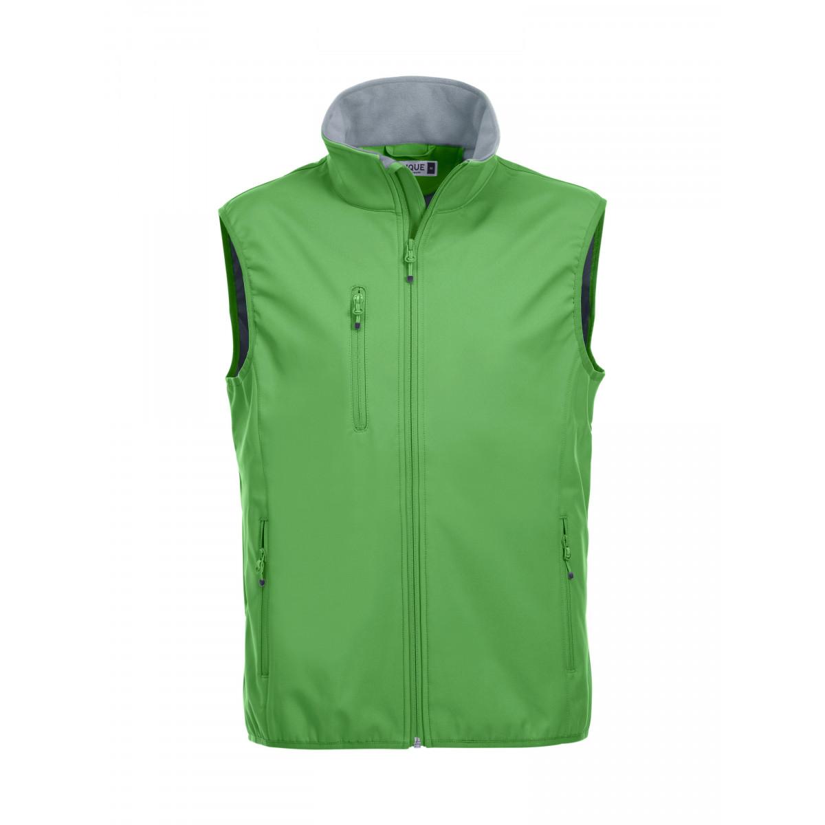 Жилет мужской 020911 Basic Softshell Vest - Насыщенный зеленый