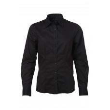 Рубашка женская JN685 Ladies' Shirt Longsleeve Oxford - Черный