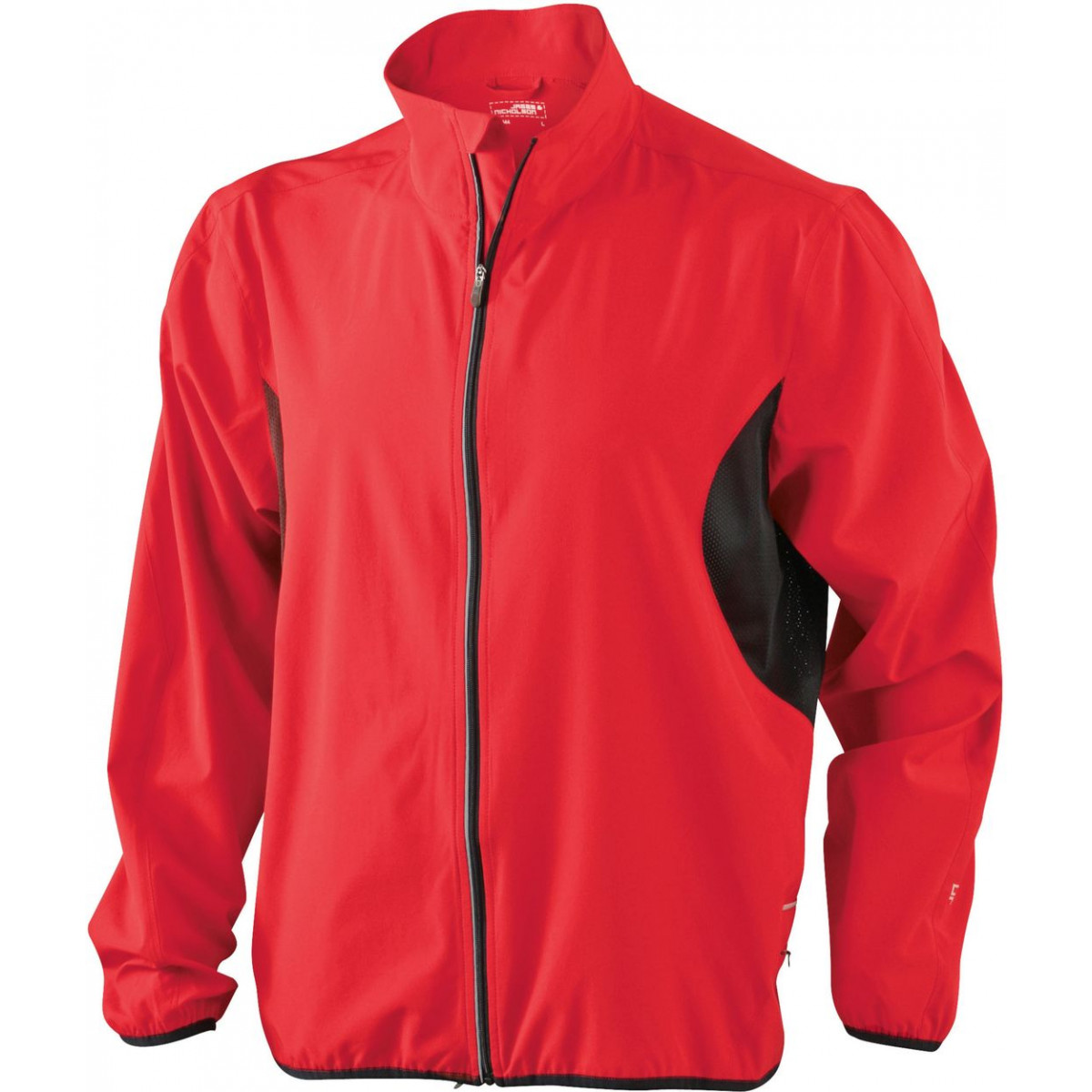 Куртка мужская JN444 Mens Running Jacket - Красный/Черный