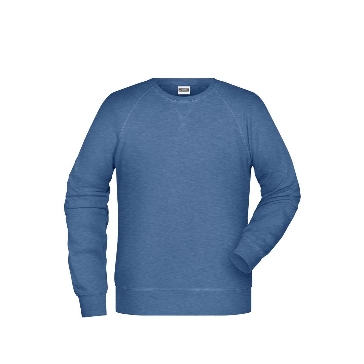 Толстовка мужская 8022 Men´s Sweat - Светло-синий меланж