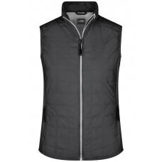 Жилет женский JN1113 Ladies' Hybrid Vest - Черный/Серебряный