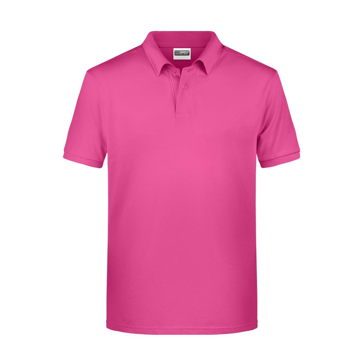 Рубашка поло мужская 8010 Mens Basic Polo - Розовый