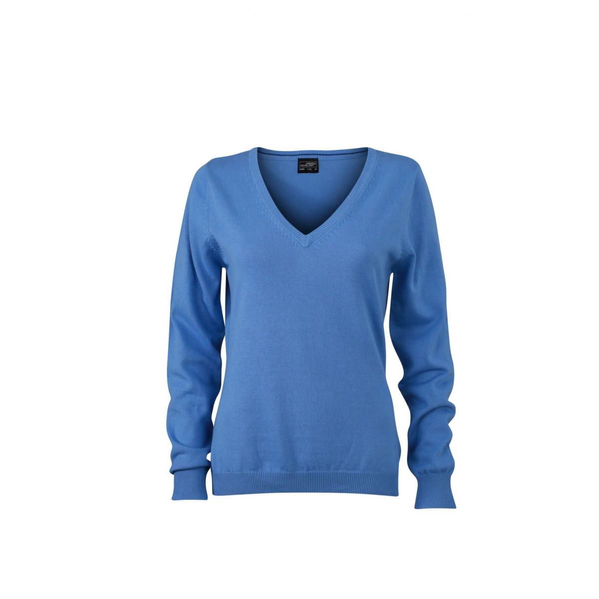 Пуловер женский JN658 Ladies V-Neck Pullover - Цвет льда