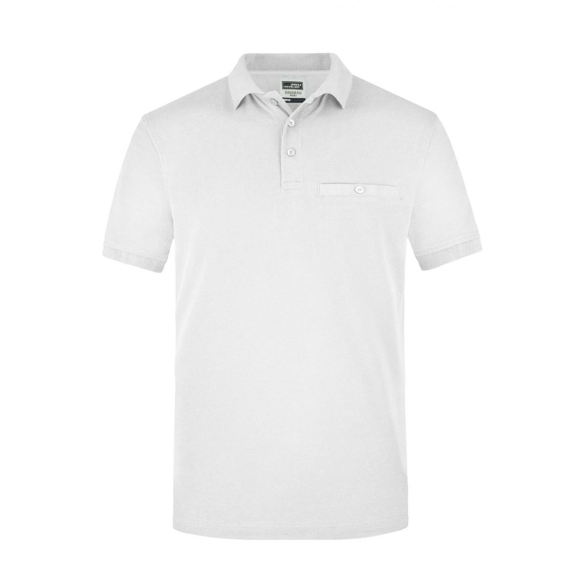 Рубашка поло мужская JN846 Men´s Workwear Polo Pocket - Белый