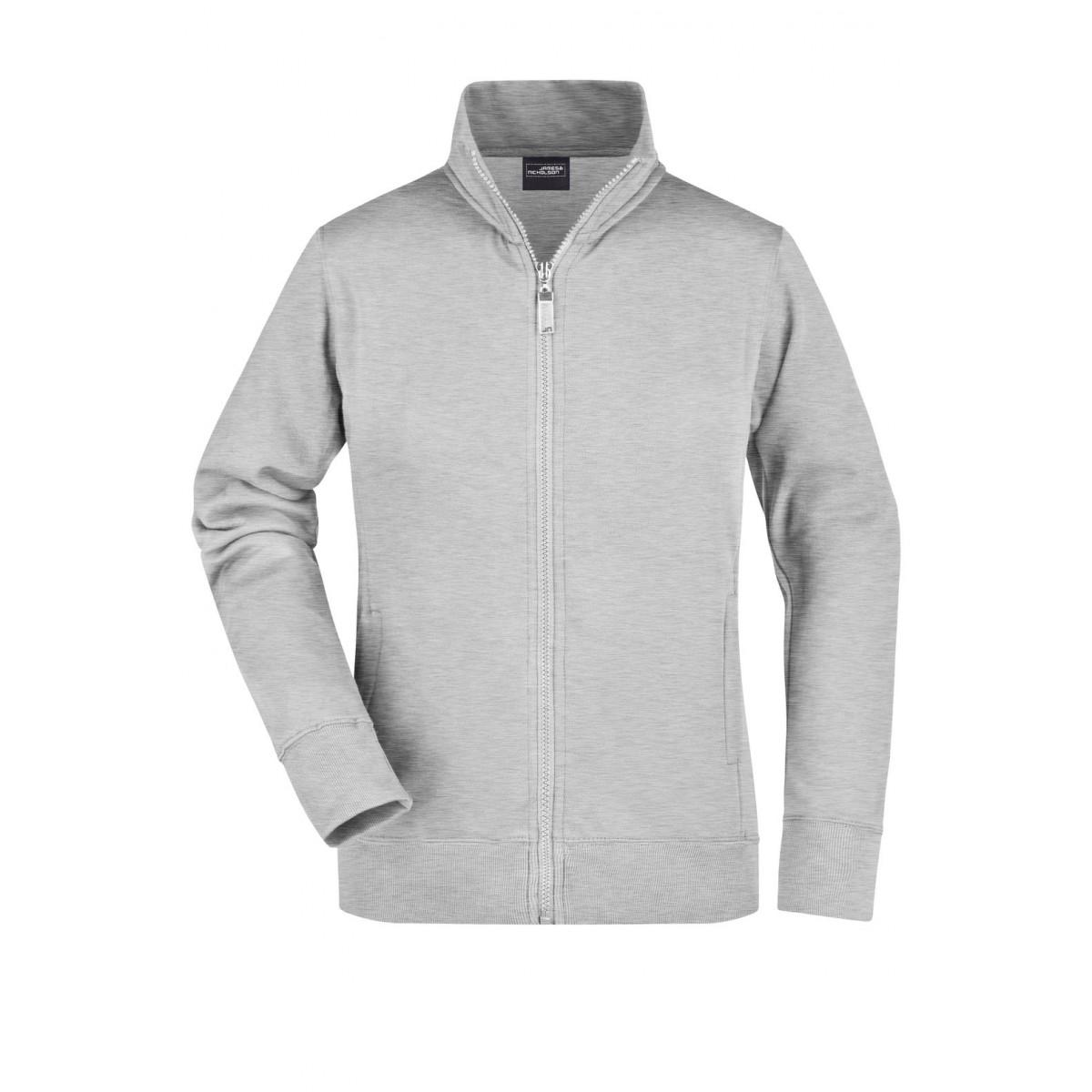 Толстовка женская JN052 Ladies Jacket - Серый меланж