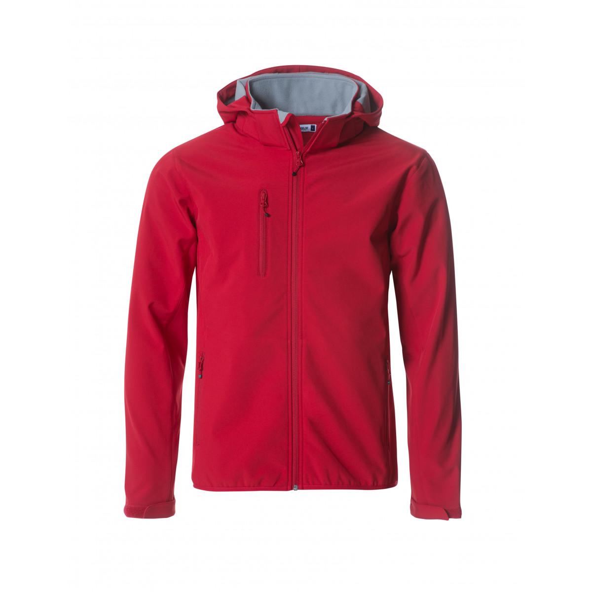 Ветровка мужская 020912 Basic Hoody Softshell - Красный
