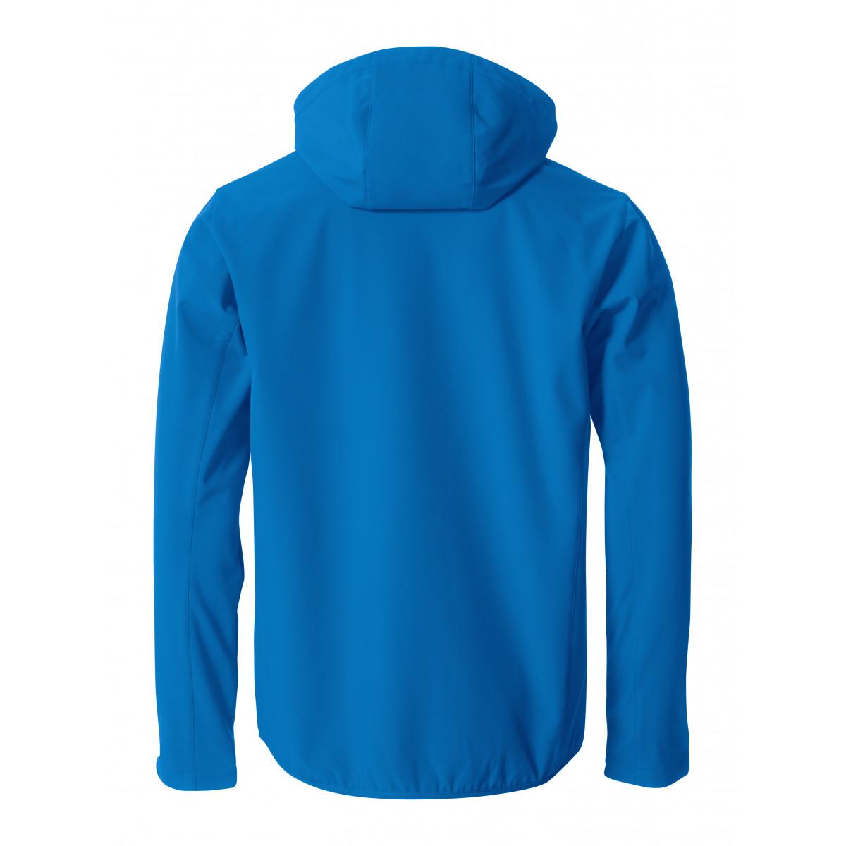 Ветровка мужская 020912 Basic Hoody Softshell - Ярко-синий